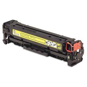 HP CC532A/CE412A/CF382A/CRG718 Yellow kompatibilný toner 3500 strán A4 pri 5% pokrytí ISO 9001:2008, ISO 14001, STMC HP Color LJ CM 2300series, CM2320