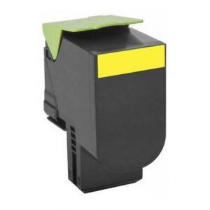 Lexmark 80C2SY0 kompatibilný toner 2000strán A4 pri 5% pokrytí Lexmark CX310N, CX310DN, CX410E, CX410DE, CX410DTE, CX510DE, CX510DTHE, CX510DHE